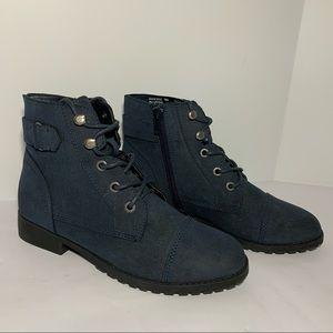 Madden Girl Rancee boots size 6 zip ankle Indigo